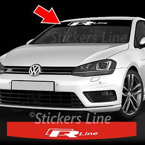 Adhésif Bande Parasol Volkswagen Golf R - Ligne R-Line - Polo - Passat -