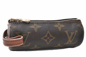 Authentic Louis Vuitton Monogram Etui 3 Golf Ball Case M58249 LV C7121