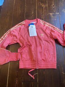 Adidas Originals D Sleek Supergirl Track Top Jacket Size 12 Medium Superstar