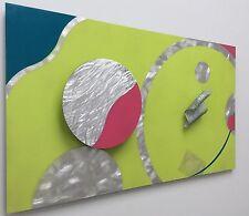 """CONTEMPORARY MODERN METAL WALL ART TITLED """"3D CIRCLES"""""""