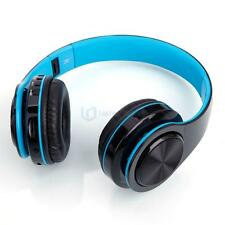 Bluetooth Wireless Headset Stereo Headphone Foldable Microphone Universal Blue