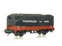 Lima 303171 H0 Vagón Borde Alto El FS Italia, Braun, con Lona Volkswagen VAG