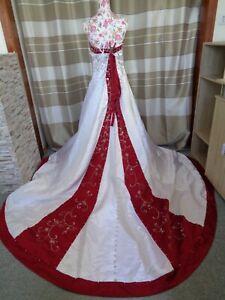 (B907)Edles Damen Braut Standesamt Abend Kleid GR: 48