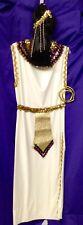 Cleopatra Costume, Dress, Wig, Headband, Collar, Belt, Snake Armband, Size L/XL
