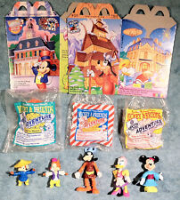 1993 Happy Meal Toys - MICKEY & FRIENDS EPCOT - Complete Set of 8 Toys + 2 Boxes