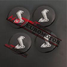 4pcs 56.5mm Shelby Cobra Emblem Steering Wheel Center Hub Cap Badge for Mustang