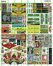 N018 DAVE'S DECALS N SCALE STRIP CLUB TATTOO SHOP ADULT BOOK PAWN SHOP BURLESQUE