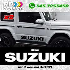 Kit 2 adesivi loghi SUZUKI 4x4 fuoristrada sticker off road JIMNY Santana Vitara