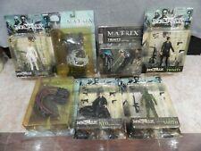 Lot of 7 Matrix Action Figures - The Matrix, Matrix Reloaded