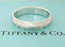 Tiffany & Co Streamerica 0.2 ct 18K White Gold Round Diamond Wedding Band Ring