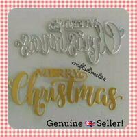 Metal Cutting Die  - MERRY CHRISTMAS - Scrapbooking - Card Making - Crafts