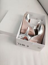 Maison Martin Margiela Paris Silver & Wood Wedge Heels Size 8 NIB Rare $1195