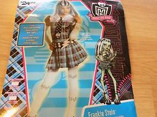 Girls Size Large 12-14 Monster High Frankie Stein Halloween Costume Rubies New