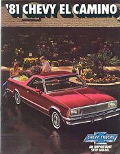 1981 Chevy EL Camino SS/Conquista/Royal Knight Brochure