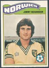 TOPPS 1978 FOOTBALLERS #028-NORWICH CITY-JIMMY NEIGHBOUR