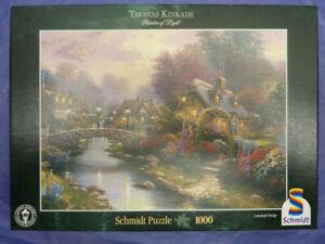 "Schmidt Puzzle, 1000 Teile, Thomas Kinkade ""Lamplight Bridge"", gebraucht"