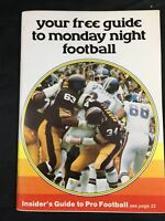 Guide to Monday Night Football 1976 Edition Vintage NFL Booklet Cosell Gifford