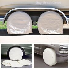 "Set of 4 RV Wheel Tire Covers Auto Truck Car Camper Trailer to 28"" Diameter -NEW"