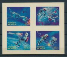 [104076] Bhutan 1967 Space travel Plastic 3D effect Miniature sheet MNH