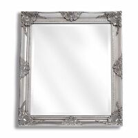 LARGE Silver Ornate Baroque Antique Shabby Chic Wall Mirror NEW Hall Bedroom