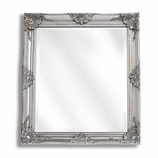 Large Silver Ornate Baroque Antique Shabby Chic Miroir Mural Nouvelle Salle Chambre