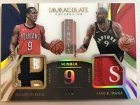 Rajon Rondo & Serge Ibaka 4/9 !!! Jersey Numbered Card Immaculate Collection