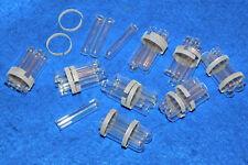 LOT MINI éprouvette 35 x 8mm TUBE laboratoire LAB Laboratory VINTAGE verre GLAS
