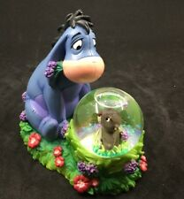 "DISNEY STORE Winnie the Pooh EEYORE & The Beaver Snow Globe Figurine 4""x 5"""