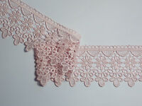 "The Place For Lace - Dusky Antique Pink Guipure Lace Trim 3""/7.5cm PER METRE"