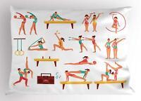 Gymnastics Pillow Sham Decorative Pillowcase 3 Sizes for Bedroom Decor