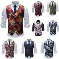 Mens Plus Sizes Waistcoat Vintage Style Chest Dinner Suit Wedding Tuxedo Suit