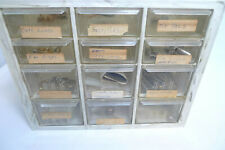 12 Drawer Jewelry Repair Lot Cuff Links tie Tac Cord Ends Tie Slides Odds Ends