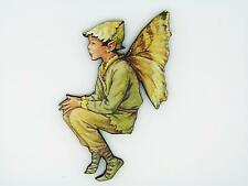 Flower Fairies el Olmo De Hadas De Colores De Madera Broche Pin Verde Flor