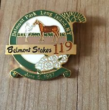 1987 Belmont Stakes 119 Pin Long Island Triple Crown Horse Racing