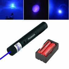 Burning Blue Purple Laser Pointer Pen 5mw 405nm Powerful Laser+Battery+Charger