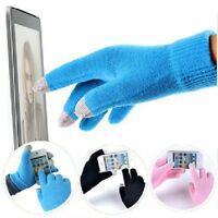 Men Soft Texting Capacitive Smartphone Touch Screen Gloves Warm Winter Knit