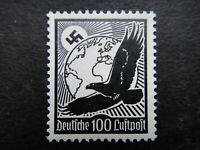 Germany Nazi 1934 Airmail Stamps MNH Swastika Sun Globe Eagle Zeppelin Air Mail