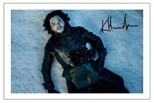 KIT HARINGTON GAME OF THRONES SIGNED PHOTO PRINT AUTOGRAPH JON SNOW