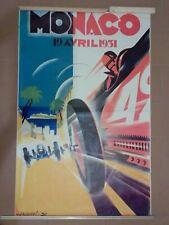 Affiche Originale Grand Prix De Monaco 1931 Par Robert FALCUCCI