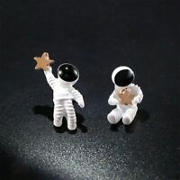 Cute Asymmetrical Space Astronaut Stud Earrings For Fashion Women Jewelry Gifts