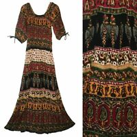 Indian Dress Rayon Retro Blusa Ethnic Boho Vestir Ehs Hippie Vintage Retro Women