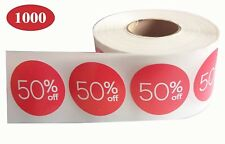 Sale Price Stickers Labels I 50% Percent Off Stickers For Retail Store Discount