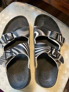 Mens Waterproof Birkenstocks Birkis Black & White Tie-Dye Size 10