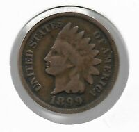 Rare Old Antique US 1899 Indian Head Penny Cent Collectible Collection Coin W30