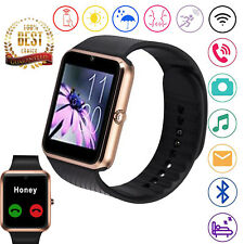 Bluetooth Smart Watch Phone Sleep Monitor Camera For Samsung iPhone Huawei HTC
