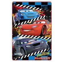 Cars Disney Pixar Lightning McQueen Boys Polar Fleece Blue Blanket 100x150cm