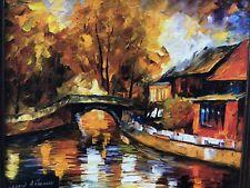 "Leonid Afremov Painting--Ltd Edition On Canvas--Set In Custom Framing 12х14"""