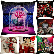 Hot Sell Glass bottle Rose Pillowcase Cushion Case Home Decoration Cushion Cover