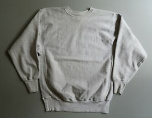 Vintage Champion Reverse Weave Gray Sweatshirt Blank Crew Neck Tri Blend