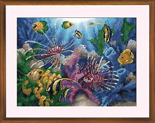 Tropical Fishes - Cross Stitch Kit with Color Symbolic Scheme SKU:667